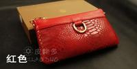 Women Cowhide Coin Day Clutch Hand Purse Wallets Genuine Leather Women's Handbag Snake Skin Pattern Tote Bags