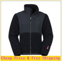 Free Shipping The Fashion Women's Denali Fleece Pink Ribbon Jacket Lady Brand Breast Cancer Windproof Sportswear White S-XXL