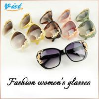 Brand VIST 2014 New Fashion Summer Sunglasses Women Black Polycarbonate Eyewear Goggle Lady Uv400 Glasses Free Shipping