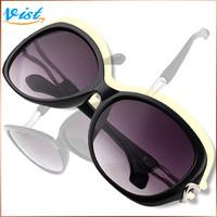 Free Shipping Hot Sale 2014 New Summer Sunglasses Black Adult Women Mirror Uv400 Oval Sunglasses Factory Price