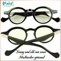 exquisite small frame plain mirror round black-rimmed glasses frame glasses plain glasses