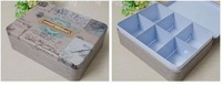 Free shipping New arrival Vintage scrub sweet fresh Large tin jewelry tea storage box classification box iron candy biscuits box