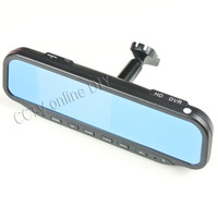 """4.3"""" Special Car Rear view Rearview Mirror DVR Monitor HD 1280x720 Camera with Bracket +8GB TF Card Dual Cameras Recording"""