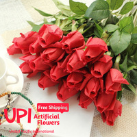 Free Shipping 6pcs/Lot Artificial Flowers Real Touch Rose Decorative Flowers Bouquet For Wedding Home Party Decorations