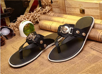 2014  new style genuine leather man brand sandals top quality 38-44 with box and tags