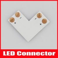 "2PIN 10mm LED Connector ""L"" Shape For 5050 single color Strip light"