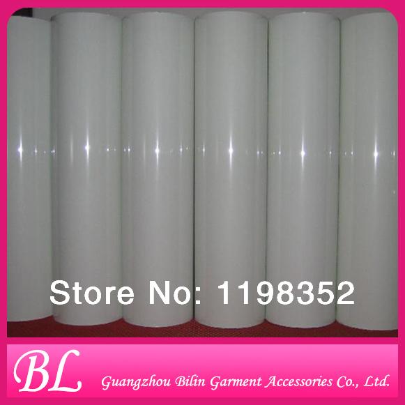 25 yards Chinese quality white pu heat transfer film on garment(China (Mainland))