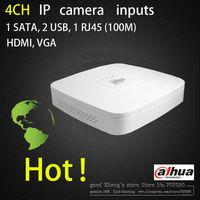4 CH Smart Mini 1U dahua NVR Network Video Recorder NVR1104  H.264