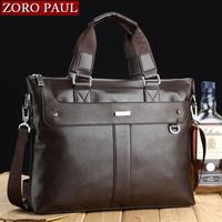 Genuine leather male bags male business  laptop bag handbag shoulder bag male briefcase leather bag