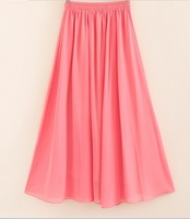 Free Shipping 16 colours Nice Design Skirts for Women  Sexy Chiffon Long Skirt High Quality Length 90cm