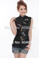 Freeshipping!Wholesale High Quality Top Chinese Delicate Handmade Oriental silk/satin Women Jacket/T-shirts SZ6 8 10 12