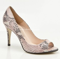 3815 Serpentine Pattern Sandals Women Pumps High Heels Open Toe Women High Heel Shoes Size 35-43