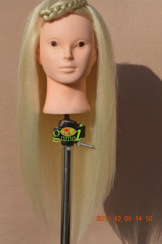 Long Hair Manikin Cutting Long Blonde Hair