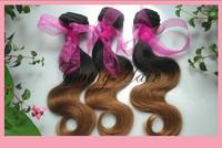 new star hair products brazilian unprocessed ombre hair 1b#/4# bodywave unprocessed human hair 3pcs cheap virgin hair very soft