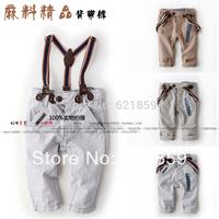 Boys linen pants casual pants baby pants children's clothes children overalls trousers Autumn baby boy