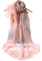 2014 New Women Printed Shawl Ripple Flower Hijab Voile Fashion Design