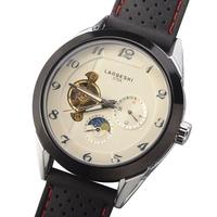 LAOGESHI Rubber Strap Sun Phase Automatic Mechanical Wrist Watch Men Gift wholesale