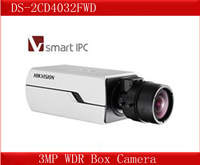 DS-2CD4032FWD Hikvision 3MP WDR Box Camera,Smart Face&Audio Detection,120dB WDR,3D DNR, DWDR Smart IPC,VQD,Network CCTV Camera