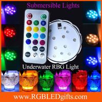 10leds Color Waterproof submersible Wedding Party light Base Vase Remote controlled tea light Floralytes Floral light RGB LED