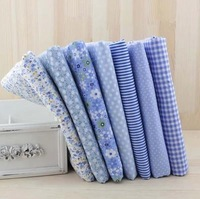 7pcs Blue 100% Cotton Fabric for Sewing DIY Quilting Patchwork Tissue Kids Bedding Textile Tilda Doll Cloth Fabric 50*50cm