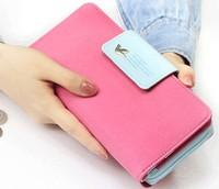 New 2014 long design zipper clutch large capacity leather women's wallets purses clutch carteira feminina,Free Shipping x