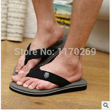 2014 Summer Hombres Casual sandalias planas , Bakham ocio Flip Flops Soft EVA , Masajes Playa Zapatilla zapatos para hombres Tamaño 39-44 3colors(China (Mainland))
