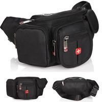 Men Waist Pack 2014 Men's Purses casual chest pack outdoor pockets sports Oxford cloth bag men travel bags male waist packs