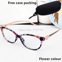 brand design fashion women eye glasses frame,quality eyeglasses,2014 new optical frames,free shipping retro rhinestone eyewear
