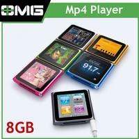 "Hot Sale 8GB 6th Generation Clip MP4 Player Digital MP4 Player, 1.8"" touch Screen touch mp4 player with FM,Record"