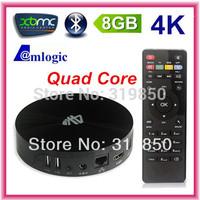 4K Amlogic Android TV BOX S82 2.0GHz Quad Core 2GB RAM 8GB Bluetooth V4.0 Mali450 GPU XBMC Smart TV Receiver Android 4.4.2