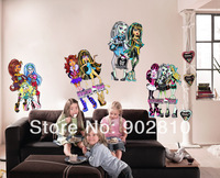 [listed in stock]-210x85cm(82.7x33.5in) Monster High Children Room Wall Stickers Self-adhesive Wallpaper Home Decoration(BD1111)