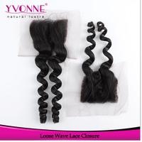 Loose Wave Peruvian Lace Closure,100% Virgin Human Hair Closure 4x4,Aliexpress Yvonne  Hair Products, Natural Color