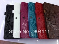 Crocodile Pattern PU Leather Case Stand Cover For Asus Transformer Pad TF300, Free Shipping