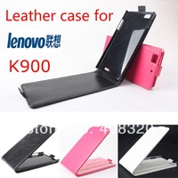 New Arrival!! Original Up-Down Flip PU Leather Case For Lenovo K900, Free Shipping