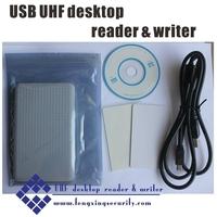 USB UHF Desktop reader & writer ,UHF USB reader,free SDK + free samples tags
