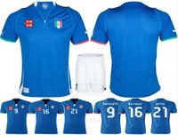 2014 world cup Italy jersey soccer Jersey Italian shirt top thailand quality CUSTOMIZED blue shirt italy one set a lot