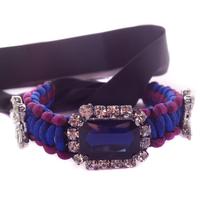 Shourouk style bangle & bracelet  vintage 2014 Crystal Cuff  rope  Bracelet fashion for women Factory Price