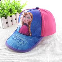 2014 Hot Sell Frozen Hat Adjustable Fashion Cartoon Snapback Cap Girl's Sports Hats Baseball Caps 5pcs/Lot Wholesale DA132