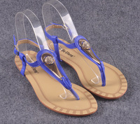2014 summer Romantic leather sandals Rhinestones gold chips ball women fashion flat shoes wholesale