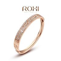 Wholesale ROXI Fashion Accessorie Jewelry Full CZ Diamond Austria Crystal with SWA Element G Pattern Bangle for Women