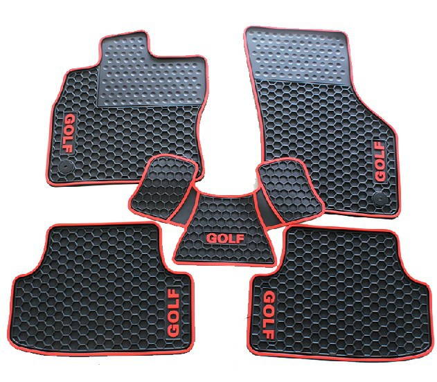 free ship car styling FREE SHIP car styling Refires 7 golf7 gti sports edition of honeycomb rubber mat Golf(China (Mainland))