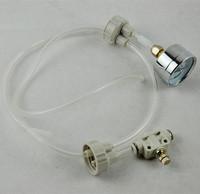 2015 New Sale 1Set White CO2 System Pro Tube Valve Guage Bottle Cap Kit  For DIY Aquarium Planted Tank Free Shipping