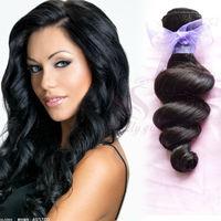 Brazilian Loose Wave Virgin Hair Weaves Rosa Hair Products 3 OR 4Pcs lot Natural Black Unprocessed Human Hair Extensions Landot