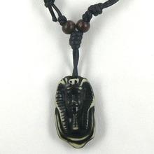 Yak Bone Necklace Black Animal People Cool Man Virility Pendant Free Shipping NEW Jewelry Talisman Jewelry free shipping(China (Mainland))