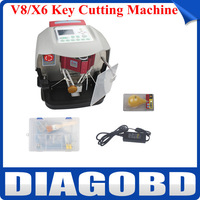 2014 New Arrival Professional Automatic V8/X6 Key Cutting Machine V8/X6 Auto Key Programmer Fast Shipping