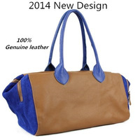 Genuine leather Women's Handbag 2014 New Nubuck Cowhide Casual Creative Women Messenger Bags Free Shipping