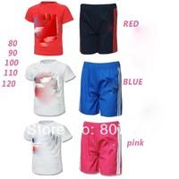 freeshiping!AD 2014 new arrive brand track suit kid's 2 pcs set children clothes Set children sport suit 3 color  5set/lot