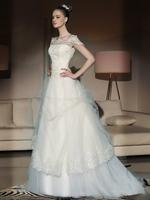 New Arrival Princess Lace 30cm trailing Plus Size Wedding Dress Bridal Gown Vestido De Novia QQ0001