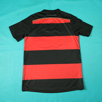 New 4 stars Champion Garmany jersey Red and black stripes Away men shirt & Embroiery Logo and Button free shippings & name patch