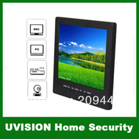 Portable 8 inch TFT LCD 4:3 screen digital monitor VGA/AV/ input with TV 1CH Video input 2Ch Audio input free shipping